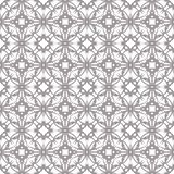 Seamless abstract floral pattern. Geometric flower ornament royalty free stock image