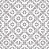 Seamless abstract floral pattern. Geometric flower ornament stock photo