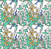 Seamless with abstract floral pattern Stock Image