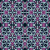 Seamless abstract floral pattern of the same type. Of cold blue and purple tones Vector Illustration