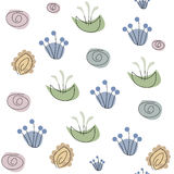 Seamless Abstract floral pattern Royalty Free Stock Image