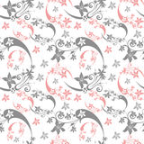 Seamless abstract floral pattern Stock Photos