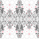 Seamless abstract floral pattern on white Stock Photo