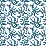 Seamless abstract floral pattern. On white background royalty free illustration