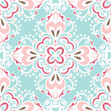 Seamless abstract floral  tiled pattern vector Royalty Free Stock Photos