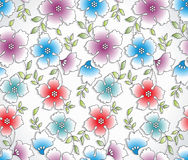 Seamless abstract flower background. Seamless abstract vector flower background Stock Photography