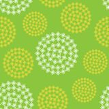 Seamless abstract flower pattern Stock Images
