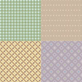 Seamless Abstract Flower Pattern Background Stock Photos