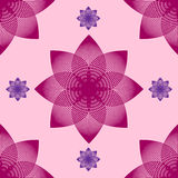 Seamless abstract flower pattern by blends. Royalty Free Stock Image