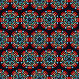 Seamless abstract flower pattern. Round ornaments Royalty Free Stock Photography