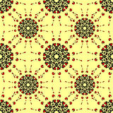 Seamless abstract flower pattern. Round ornaments Royalty Free Stock Photo