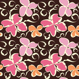 Seamless abstract flower pattern Stock Photos