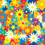 Seamless abstract flowers background. Vector illustration Royalty Free Stock Images