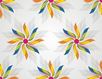 Seamless abstract flowers background Stock Images