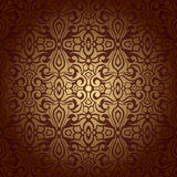 Seamless abstract flowers baroque background Royalty Free Stock Photo