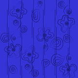 Seamless with abstract flowers in cartoon style Royalty Free Stock Photo