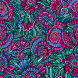 Seamless abstract flowers pattern. Endless background Royalty Free Stock Images