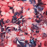 Seamless abstract flowers,pattern Stock Photo