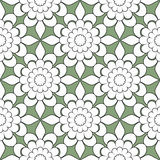 Seamless abstract flowers pattern stylish background. Seamless abstract flowers pattern stylish green background Royalty Free Stock Images