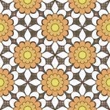 Seamless abstract flowers pattern stylish background. Seamless abstract flowers pattern stylish specks background Stock Image