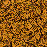 Seamless abstract flowers pattern Royalty Free Stock Photography
