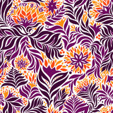 Seamless abstract flowers pattern Stock Photos