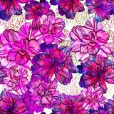 Seamless abstract flowers pattern. Vector, EPS10 Stock Photo