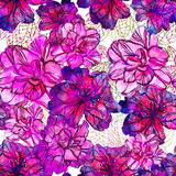 Seamless abstract flowers pattern. Vector, EPS10 Stock Images