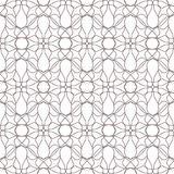 Seamless abstract flowers patterns. Geometrical floral ornament. Black and white vector background Royalty Free Stock Images
