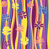 Seamless abstract flowery pattern. Royalty Free Stock Images