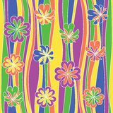 Seamless abstract flowery pattern. Stock Images