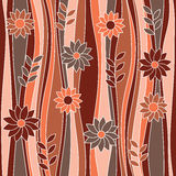 Seamless abstract flowery pattern. Stock Photography