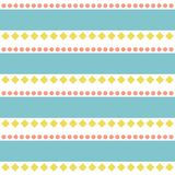 Seamless abstract folk retro pattern. Background stock illustration
