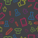 Seamless abstract funky pattern Royalty Free Stock Photography
