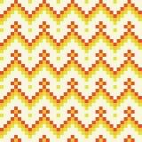 Seamless abstract geomatric orange pixel pattern in vector. Seamless abstract geomatric pixel pattern in vector and orange tints Stock Image