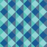 Seamless abstract geomatric pixel blue diamond pattern. In blue tints Royalty Free Stock Photos