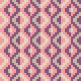 Seamless abstract geomatric pixel diamond pattern in vector. In flat design style Royalty Free Stock Photography