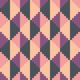 Seamless abstract geomatric pixel pink diamond pattern. In pink tints Royalty Free Stock Image