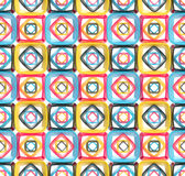 Seamless abstract geometric background. Made of glossy bright square figures Stock Photo