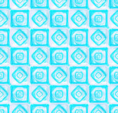 Seamless abstract geometric background. Made of glossy bright square figures Stock Photography