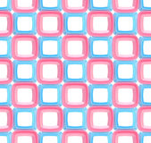 Seamless abstract geometric background. Made of glossy bright square figures Royalty Free Stock Photos