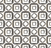 Seamless abstract geometric background. Made of glossy bright square figures Royalty Free Stock Photography