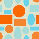 Seamless abstract geometric colorful vector pattern shapes Royalty Free Stock Image