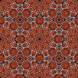 Seamless abstract geometric floral pattern Royalty Free Stock Photo
