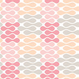Seamless abstract geometric pattern. Aligned pastel beans geometric pattern. Seamless tile Royalty Free Stock Photography
