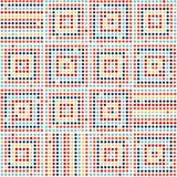 Seamless abstract geometric pattern. Colorful dotted squares on white background. Vector. Seamless abstract geometric pattern. Colorful dotted squares on white Royalty Free Stock Images