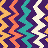 Seamless abstract geometric pattern with the colorful zigzag lines. Design template for wallpaper, wrapping, fabric etc. Vector Illustration stock illustration