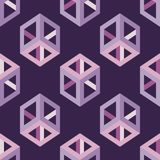 Seamless abstract geometric pattern. 3D cubes. Mosaic texture. Can be used for wallpaper, textile, invitation card, wrapping, web page background vector illustration