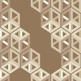 Seamless abstract geometric pattern. 3D cubes. Mosaic texture. Can be used for wallpaper, textile, invitation card, wrapping, web page background royalty free illustration