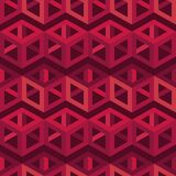 Seamless abstract geometric pattern. 3D cubes. Mosaic texture. Can be used for wallpaper, textile, invitation card, wrapping, web page background stock illustration